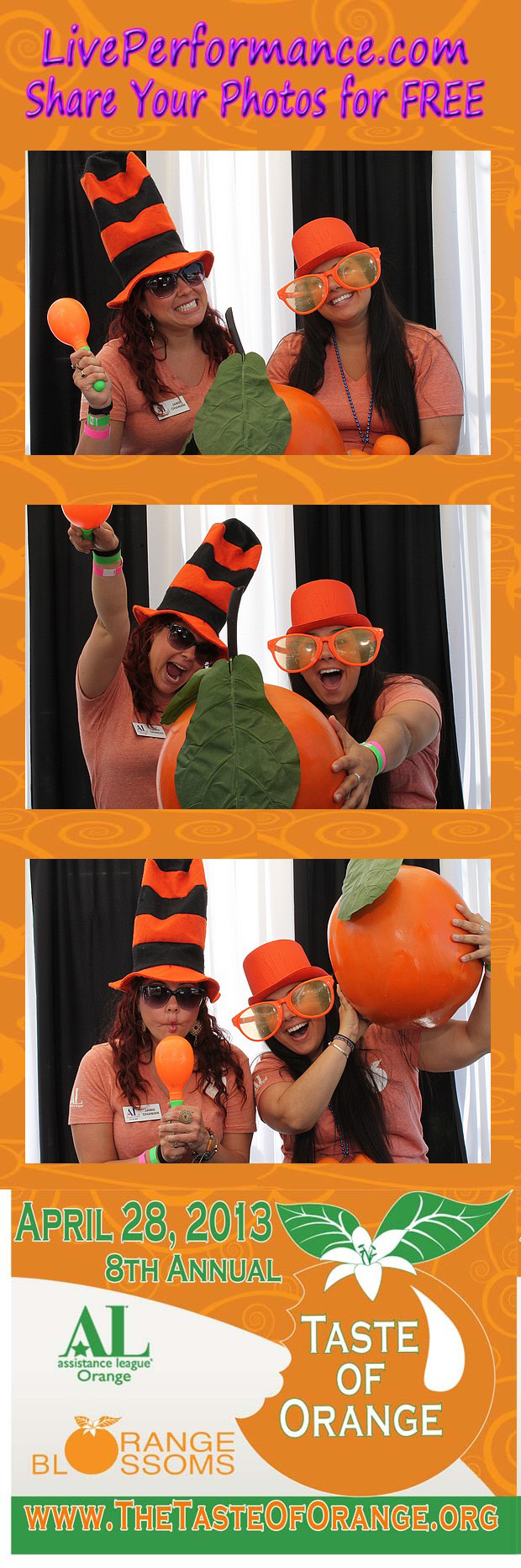 The Orange Blossoms Present the 2013 Taste of Orange - EYE Photo Booth PhotoStrips