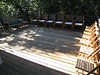 The deck is clean, so is the house.  The chairs are ready, waiting for the guests.