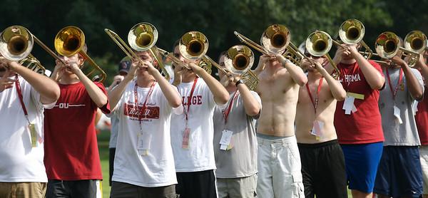 The Pride of Oklahoma prepares for the 2007 Sooner football season home opener against North Texas.