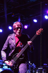 Tim Butler on bass for the Psychedelic Furs on stage at Fete in Providence. - June 2013