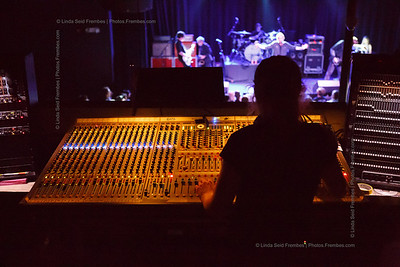 View from front of house (FOH) of the Psychedelic Furs on stage at Fete in Providence. - June 2013