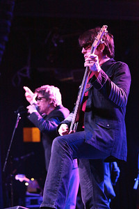 Richard Butler (background) and his brother Tim (foreground) of the Psychedelic Furs on stage at Fete in Providence. - June 2013