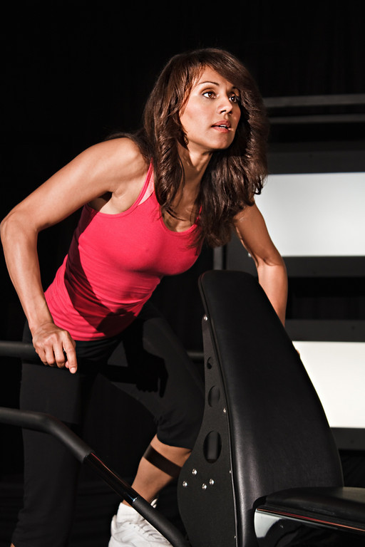 More of Evelyn during her workout segment.