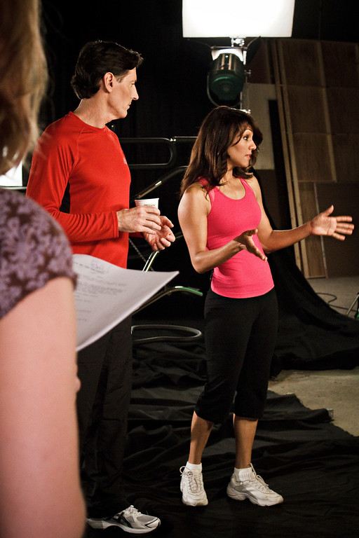 Ken & Evelyn practice their lines together.