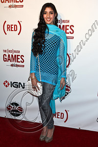 HOLLYWOOD, CA - JUNE 07:  Recording artist Sahyba arrives at the (RED)RUSH Games party at Avalon on June 7, 2012 in Hollywood, California.  (Photo by Chelsea Lauren/WireImage)