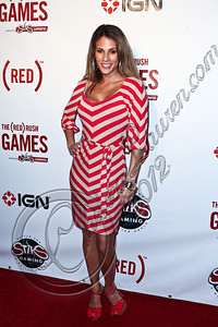 HOLLYWOOD, CA - JUNE 07:  Actress Bonnie-Jill Laflin arrives at the (RED)RUSH Games party at Avalon on June 7, 2012 in Hollywood, California.  (Photo by Chelsea Lauren/WireImage)