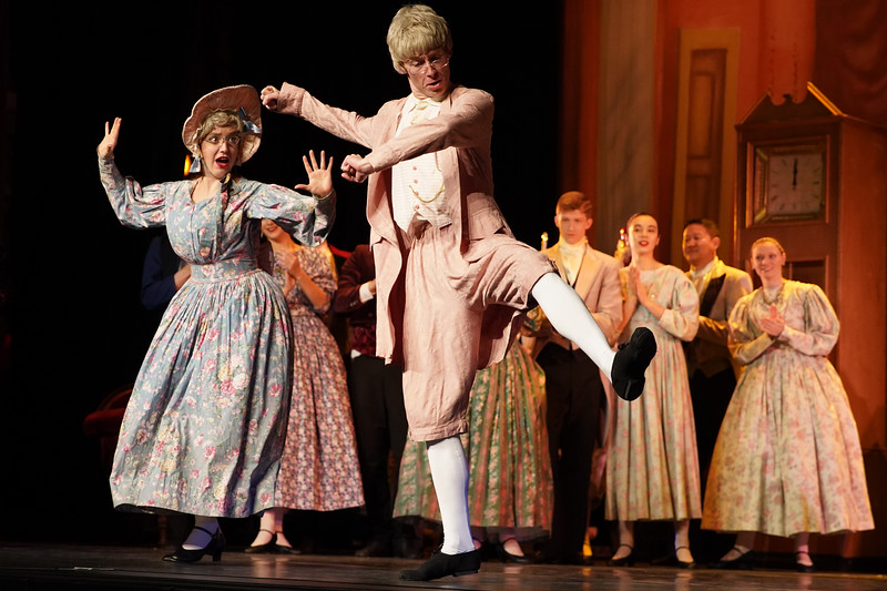 """Matthew Gaston   The Sheridan Press<br>Georgie and Bo Brinton kick up their heals as the grandparents in the San Diego Ballet's production of """"The Nutcracker"""" at the WYO Performing Arts and Education Center Wednesday, Dec. 4, 2019."""