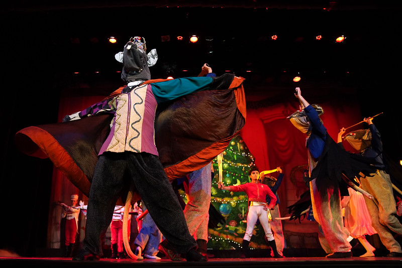 """Matthew Gaston   The Sheridan Press<br>The Mouse King and his minions surround the Cavalier during dress rehearsal for """"The Nutcracker"""" at the WYO Performing Arts and Education Center Wednesday, Dec. 4, 2019."""