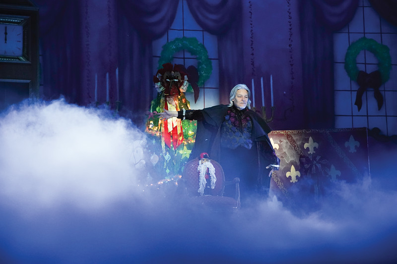 """Matthew Gaston   The Sheridan Press<br>The mysterious godfather Drosselmeyer, played by the San Diego Ballet's Javier Velasco, entrusts the nutcracker to Clara in hopes she will break the curse on his nephew during """"The Nutcracker"""" Wednesday, Dec. 4, 2019."""