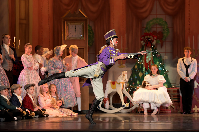 """Matthew Gaston   The Sheridan Press<br>Jared Osoria performs as the soldier doll in the San Diego Ballet's production of """"The Nutcracker"""" at the WYO Performing Arts and Education Center Wednesday, Dec. 4, 2019."""