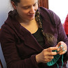 Liz can knit and learn about coffee tasting and talk about movies...all at the same time.