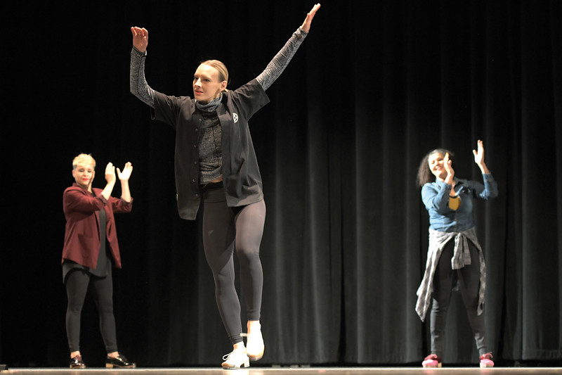 Matthew Gaston | The Sheridan Press<br>Avalon Rathgeb, a London native, performs with the Tapestry Dance Company at Sheridan High School Thursday, April 18, 2019.