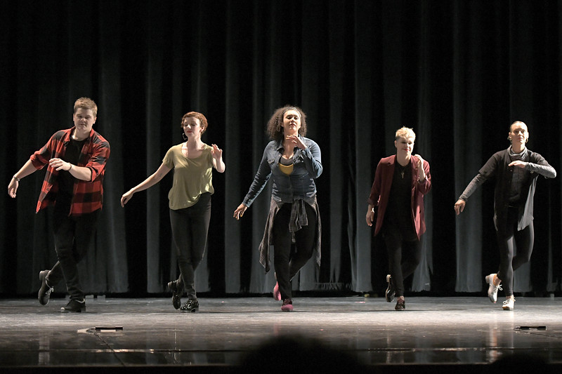 Matthew Gaston | The Sheridan Press<br>The apestry Dance Company from Austin, TX put on a memorable show for the students at Sheridan High School Thursday, April 18, 2019. The Tapestry Dance Company is a professional, non-profit dance organization founded in 1989 by rhythm tap dancer Acia Gray and ballet/jazz artist Deirdre Strand for the purpose of developing a foundation in multi-form dance performance and education.