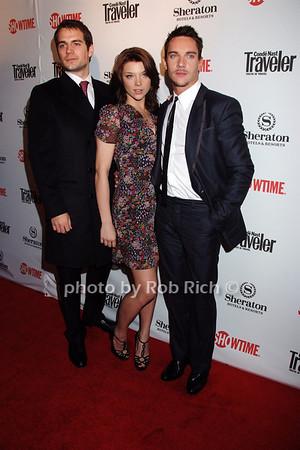 Henry Cavill, Jonathan Rhys Meyers, Natalie Dormer photo by Rob Rich © 2008 robwayne1@aol.com 516-676-3939