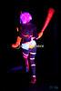 Black light body paint burlesque in Ha'iku.