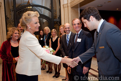 Princess Michael of Kent greeting  Michael Hermany, Palace Outlets Manager