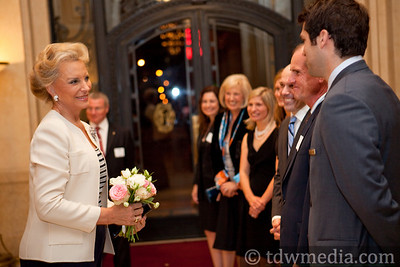 Princess Michael of Kent greeting Julian Evans, British Counsel General, Gayle Evans, Daryl Nelson, Valerie Batchelder, Katelyn Dyson, Dr. Steve Martel, Guy Bristow and Michael Hermant, Palace Outlets Manager