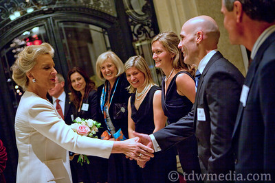 Princess Michael of Kent greeting Dr. Steve Martel