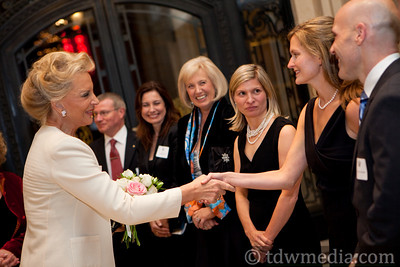 Princess Michael of Kent greeting Katelyn Dyson