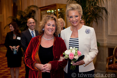 Jean Rowcliffe-Executive DIrector of The Village Well with Princess Michael of Kent
