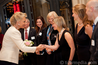 Princess Michael of Kent greeting Valerie Batchelder