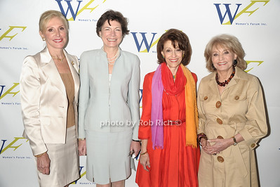 Janice Reals Ellig, Diana Taylro, Evelyn Lauder, Barbara Walters photo by Rob Rich © 2011 robwayne1@aol.com 516-676-3939