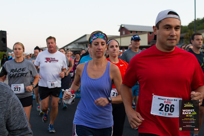 Far too early on a terrible Saturday morning, runners gathered at Cooper Elementary to run what is by far the Worst Race Ever.  The course was littered with bats (baseball), minefields, 2 directional options, and even a life guard.  As participants were shuttled on party busses back to their cars they realized they had just done the best, Worst Race Ever.