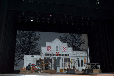 Set props for country singer Randy Travis inside Reynolds Symphony Hall at The Smith Center for the Performing Arts in this photograph in downtown Las Vegas is a 61 acre Symphony Park Arts Center.