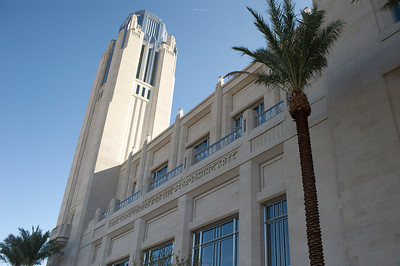 The Smith Center for the Performing Arts in this photograph in downtown Las Vegas is a 61 acre Symphony Park Arts Center.