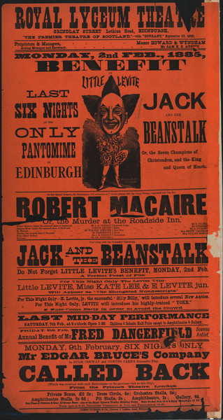 1800's Poster - Royal Lyceum Theatre