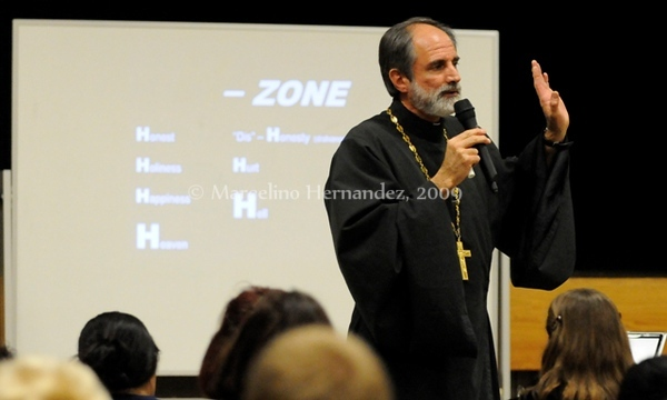 """The screen says """"the H-Zone"""". Honest, Holiness, Happiness and Heaven. The counterfeit of each of those leads to the emptiness which we were NOT meant for."""