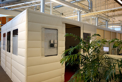 Tents (a.k.a. Ebola tents) as offices at Google.