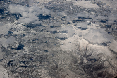 Fresh snow on the Rocky Mountains.