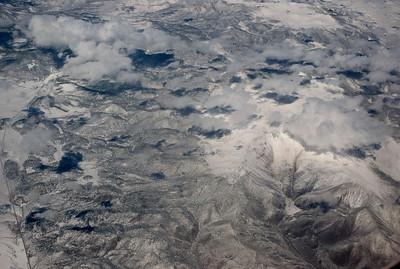 Fresh snow on the Rocky Mountains.