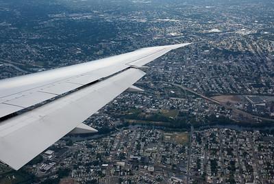 Approaching Newark.