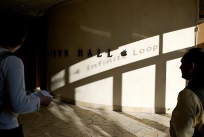 The LLVM developers meeting is held at Apple at 4 Infinite Loop.