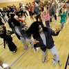 Lonnie Mercer, bottom right, and her twin sister Alicia Hoegh, among others in the Thriller dance world record.<br /> A few hundred people danced to Michael Jackson's Thriller at the Paul Derda Recreation  Center to be part of a Guinness World record across the country.<br /> Cliff Grassmick / October 24, 2009