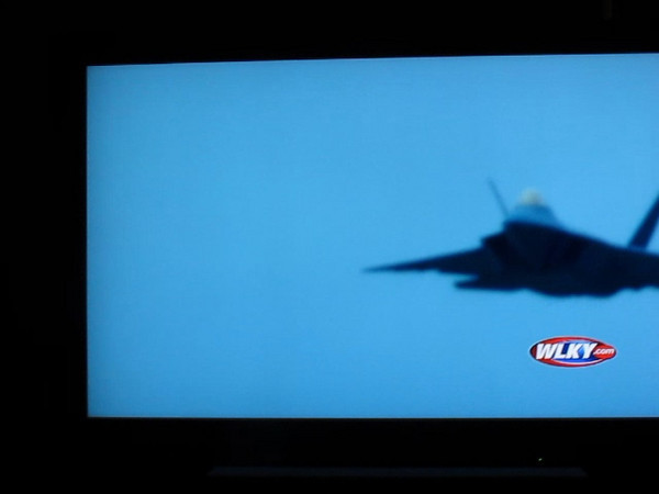 "Thunder Over Louisville 2011 - air show - F22 Raptor<br /> After the air show was ""put on hold"" (cancelled), the Raptor showed up way after its designated time and still put on a demo in miserable conditions. Here it is recorded off the TV.  ;)<br /> Awesome plane."