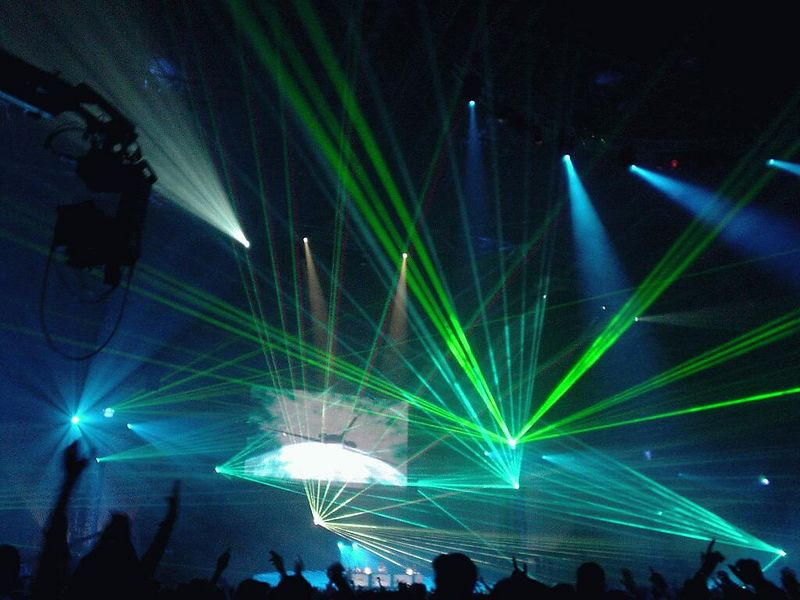 Final unbelievable laser show that blew our minds while the got lost in time and music
