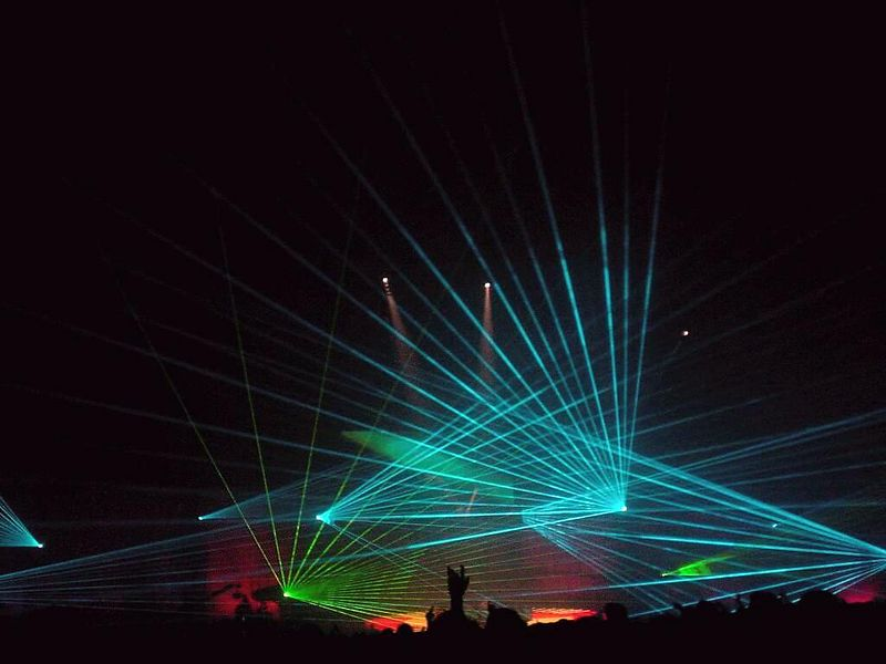Awesome laser show towards the end