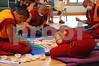 DSC_2046 Four monks working on mandala
