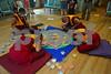 DSC_1772 Four monks around sand mandala