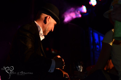 The Love Me Nots performing on the main stage at Tiki Oasis on Friday night. Otto von Stroheim presenting.