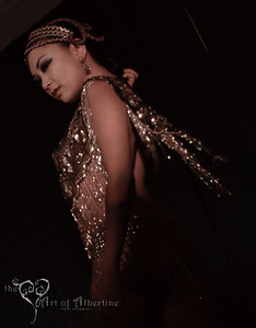 Mynx d'Meanor performing at Midnight at Tiki Oasis: Femme Fatale Follies - Burlesque show at Tiki Oasis on Friday night