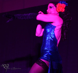 Kellita performing at Midnight at Tiki Oasis: Femme Fatale Follies - Burlesque show at Tiki Oasis on Friday night