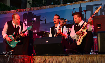 The Exotics performing on the main stage at Tiki Oasis on Saturday night