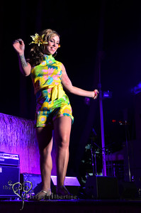 Retro Diva Fashion Show on the main stage at Tiki Oasis on Friday night.