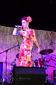 Retro Diva Fashion Show on the main stage at Tiki Oasis on Friday night. Lisa Luxe