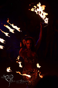 Marina, the Fire Eating Mermaid, performing at Tiki Oasis, 2012