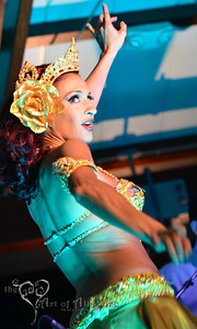 Marina, the Fire Eating Mermaid, performing with Tikiyaki Orchestra at Tiki Oasis, 2012